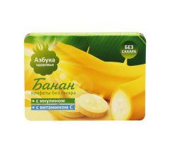 Азбука Здоровья конфеты фруктовая мякоть Банан 12г