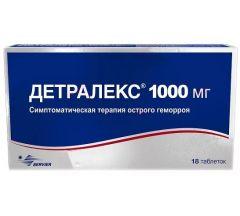 Детралекс таб.п/о 1000мг №18