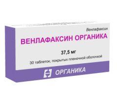 Венлафаксин Органика таб.п/о плен. 37,5мг №30