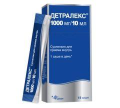 Детралекс сусп. д/пр.внутрь 1000мг/10мл саше  №15