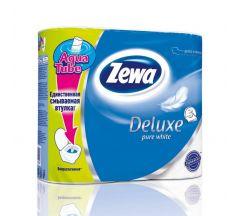 Зева бумага туалетная Делюкс трехслойная белая №4