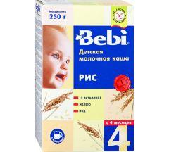 Беби каша молочная рис от 4мес. 250г 748
