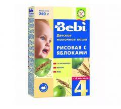 Беби каша молочная рис/яблоко от 4мес. 250г 7063