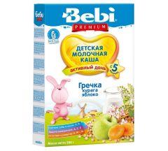 Беби каша молочная Премиум гречка/курага/яблоко от 5мес. 200г