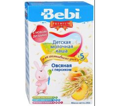 Беби каша молочная Премиум овсянка/персик от 5мес. 250г 02112