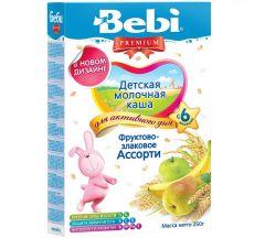 Беби каша молочная Премиум фрукты/злаки ассорти от 6мес. 250г 02109