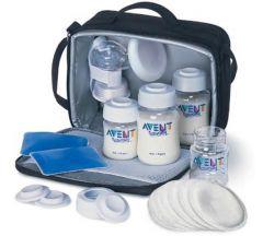 Авент набор Деловая мама молокоотсос электронный 86740+принадлежности д/кормления
