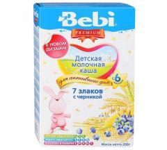 Беби каша молочная Премиум 7злаков/черника 200г