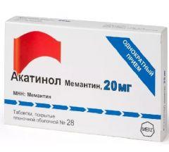 Акатинол Мемантин таб.п/о плен. 20мг №28