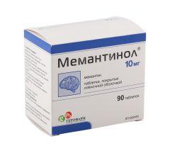 Мемантинол таб. п/о плен. 10мг №90